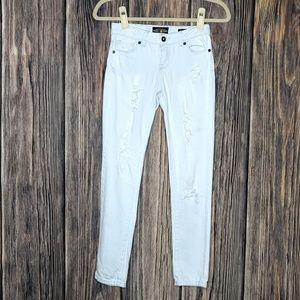 Girls Highrise Skinny White Denim Zoe Legging Jean